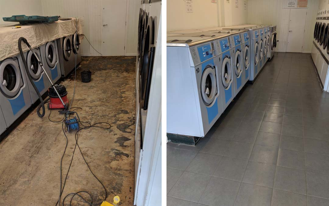 Commercial tiling for Oxford Laundrette