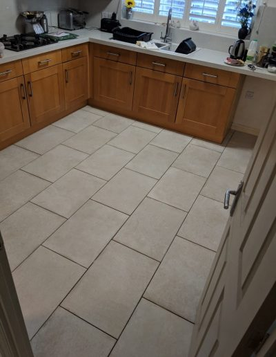 Kitchen floor tiling